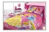 Różowa narzuta na łóżko dla dzieci Księżniczka 160x200 bawełna
