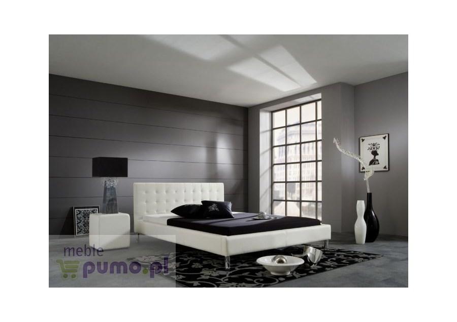 Nowoczesne łóżko Joel Kolor Biały