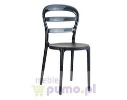 MISS BIBI - krzesło z przezroczystym oparciem
