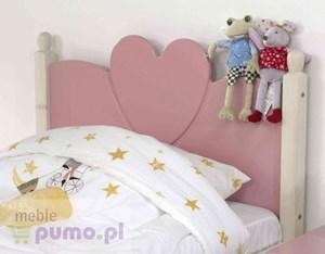 Bajkowe łóżko dla dziewczynki Wendy - sosna bielona/ różowy MDF