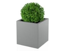 Donica kwadratowa Pixel Pot 50 cm z podwójnym dnem, szara
