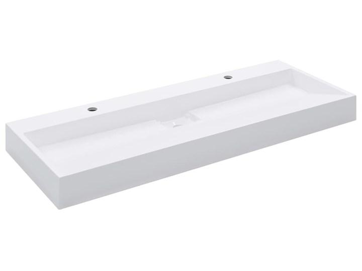 vidaXL Umywalka, 120x46x11 cm, kompozyt mineralny/marmurowy, biała