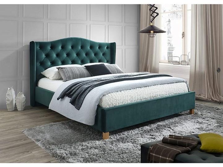 Łóżko ASPEN 160 velvet zielony