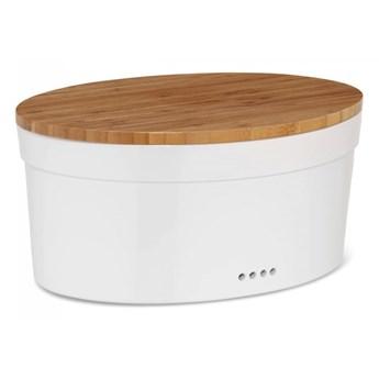 ceramiczny chlebak z bambusową pokrywą, 37 x 24 x 14 cm kod: KE-12064