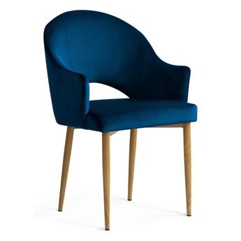 Krzesło OGGIE granatowe/ nogi dąb / velvet