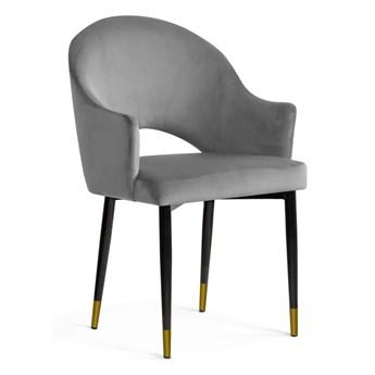 Krzesło OGGIE szare / nogi czarne + złote