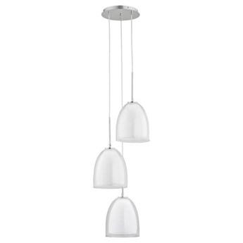 Lampa wisząca RONDA chrom/transparentny śr. 34cm