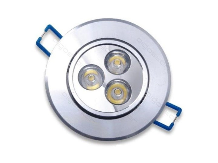 Downlight silver LED 3W 3000K