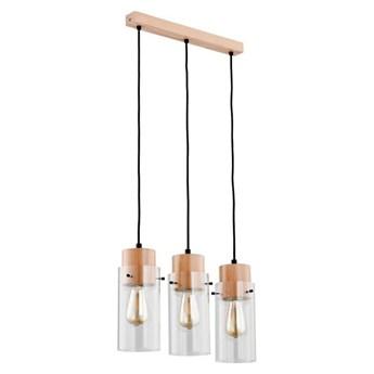 Lampa wisząca TANTUM drewno/czarny szer. 48cm