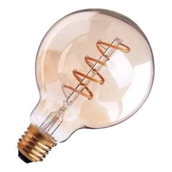 Żarówka FILAMENT LED E27 6W ciepła 3000K kula G80 gold spirala