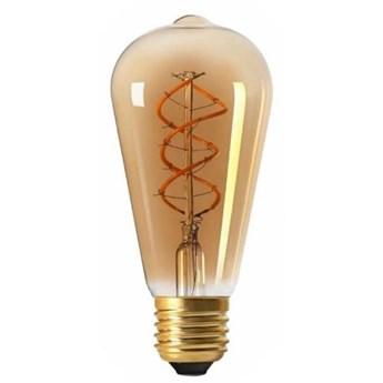 Żarówka FILAMENT LED ST64 E27 4W ciepła 3000K łezka spirala gold