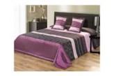 Narzuta Fioletowo Czarna na łóżko Elana 220x240 cm