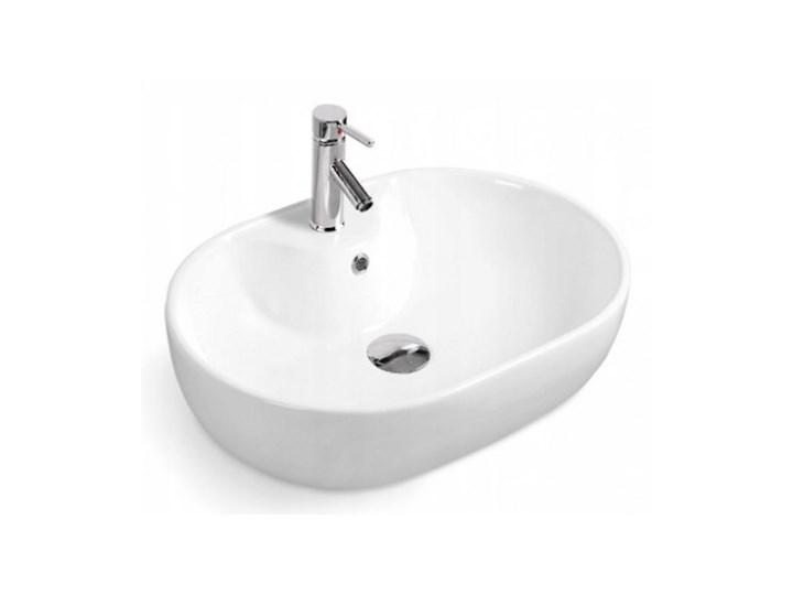 VELDMAN UMYWALKA CERAMICZNA LAURA Owalne Wolnostojące Szerokość 60 cm Ceramika Nablatowe Kategoria Umywalki
