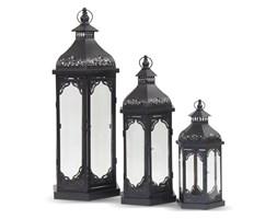 HOLI komplet trzech metalowych czarnych lampionów, wys. 80, 60, 42 cm