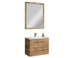 Komplet mebli łazienkowych z serii BETA szafka, lustro oraz umywalka 80 cm