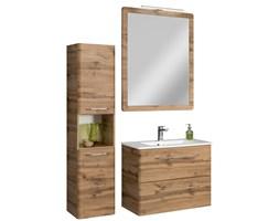 Komplet mebli łazienkowych 5 elementów z kolekcji Beta dąb