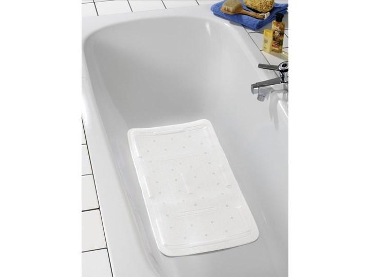 Biała mata do wanny Wenko Florida, 90x36,5 cm Kolor Biały Syntetyk Kategoria Dywaniki łazienkowe