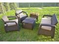 Zestaw ogrodowy Corfu Meblobranie Box Set ze stolikiem skrzynią brązowy Kategoria Zestawy mebli ogrodowych Zestawy kawowe Tworzywo sztuczne Zestawy wypoczynkowe Liczba miejsc Czteroosobowy