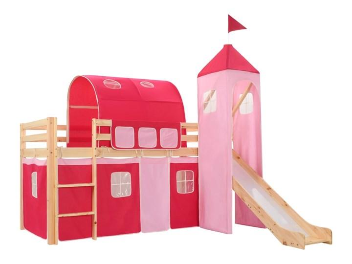 vidaXL Wysoka rama łóżka dziecięcego, zjeżdżalnia i drabinka 97x208 cm
