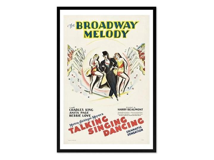 PLAKAT - BROADWAY: TALKING SINGING DANCING obraz w czarnej ramie, 63x93 cm Pomieszczenie Przedpokój Pomieszczenie Salon