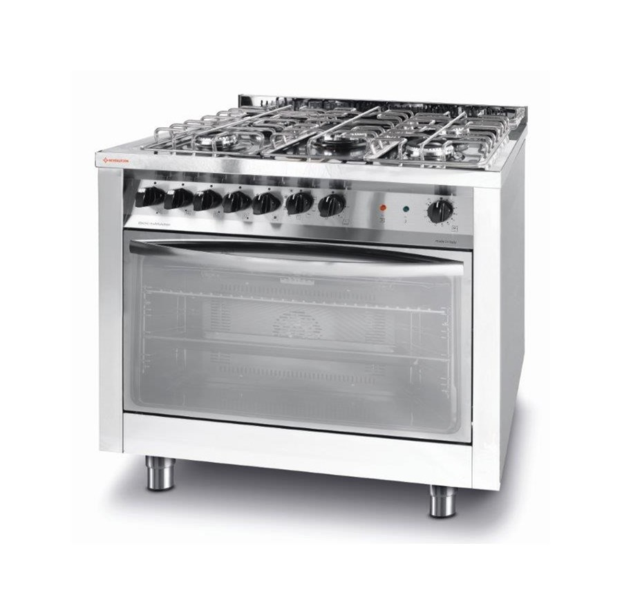 Kuchnia Gazowa 5 Palnikowa Z Konwekcyjnym Piekarnikiem Elektrycznym Z Grillem Kod 226254