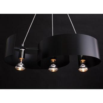 VIXON 3 BLACK 284/3 nowoczesna lampa wisząca chrom czarna