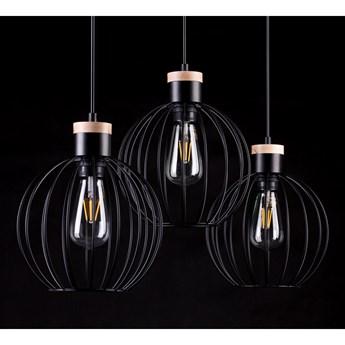 BARBADO 3 BLACK 754/3 lampa wisząca loft skandynawska drewno