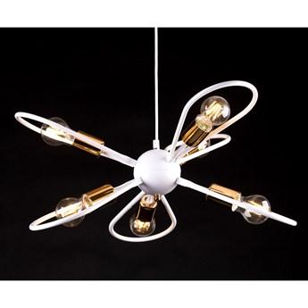 SAXON 6 WHITE 331/6 industrialna lampa wisząca oryginalne wzornictwo biała