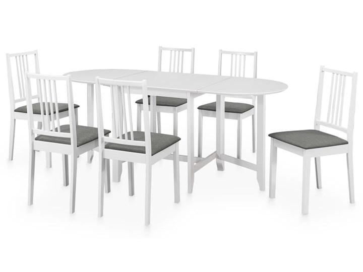 vidaXL 7-częściowy zestaw mebli do jadalni, MDF, biały