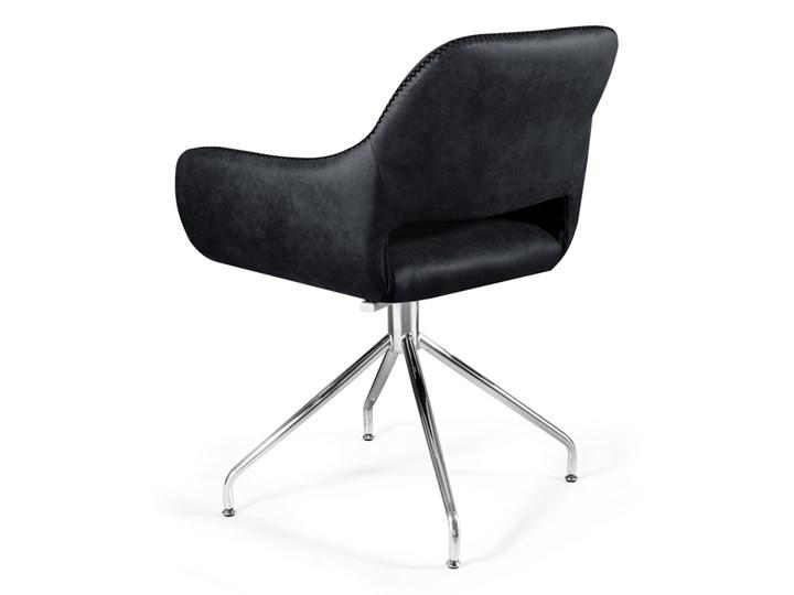 Obrotowe krzesło z podłokietnikami Talia Szerokość 58 cm Głębokość 42 cm Wysokość 82 cm Kategoria Krzesła kuchenne Kolor Szary