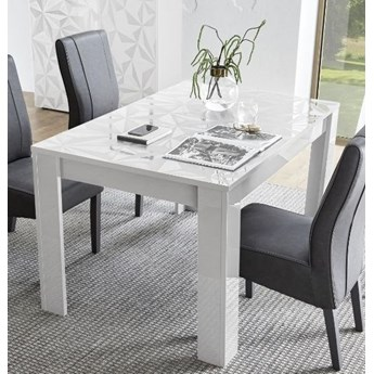 Rozkładany stół Prestige biały połysk