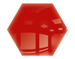 Płytki Kafelki Lustrzane 183x160  Heksagon 4mm Szlif Poler Czerwone