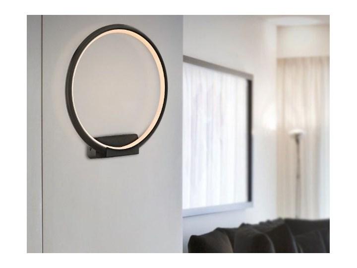 MCODO ::  Minimalistyczny kinkiet led Pista Illuminata R 20cm czarny 10W z barwą ciepłą 3000K Styl Nowoczesny