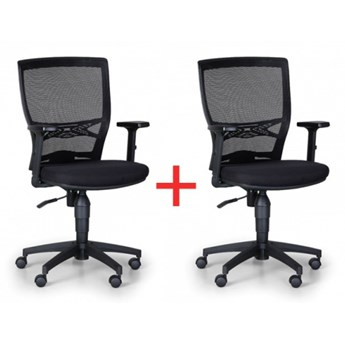 Krzesło biurowe Venlo 1+1 gratis, czarne