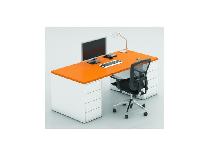 Zestaw BLOCK B03, biały/pomarańczowy Kategoria Zestawy mebli do sypialni