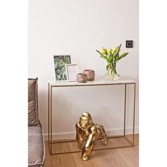 APRIL - złota konsola z marmurem