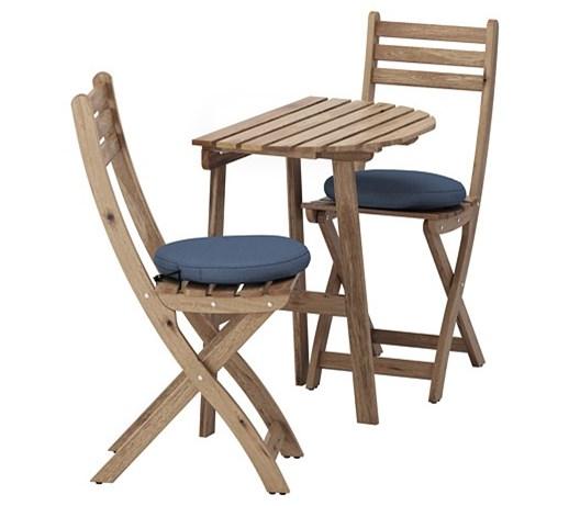 Askholmen Stół Ogrodowy I 2 Składane Krzesła