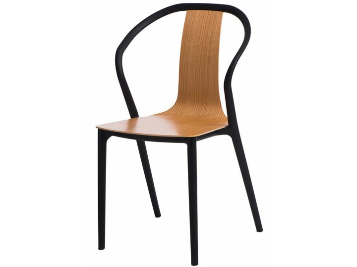 Krzesło Do Kawiarni Z Siedziskiem Ze Sklejki Bella Czarne