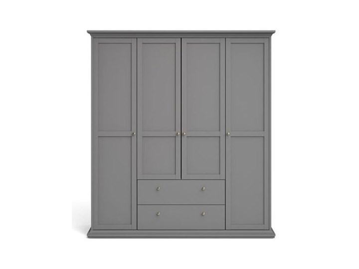 Szafa Paris 4+2 kolor szary Głębokość 61 cm Pomieszczenie Garderoba Kategoria Szafy do garderoby