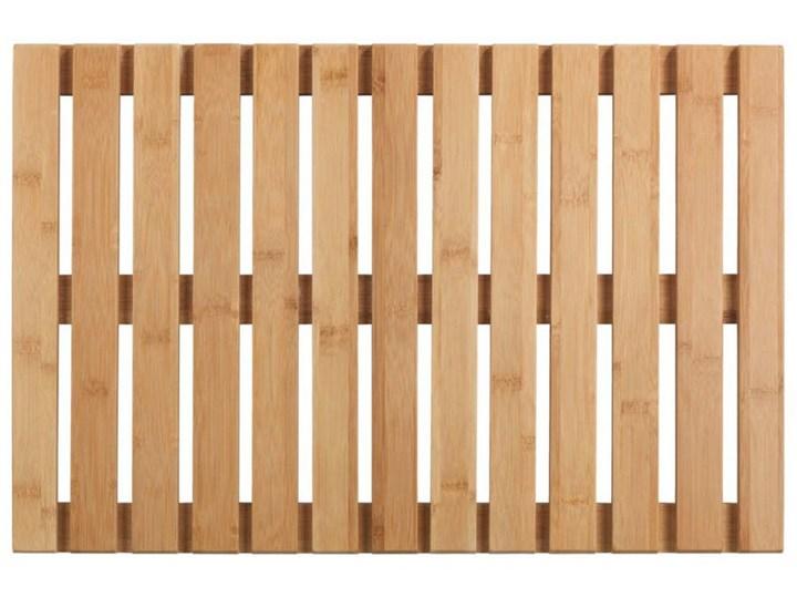 Podest łazienkowy z drewna bambusowego, 40 x 60 cm, WENKO Drewno Mata Prostokątny Kategoria Dywaniki łazienkowe 40x60 cm Kolor Beżowy