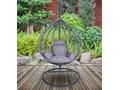 Fotel wiszący ogrodowy Canari Max grafitowo-szary Wiszące