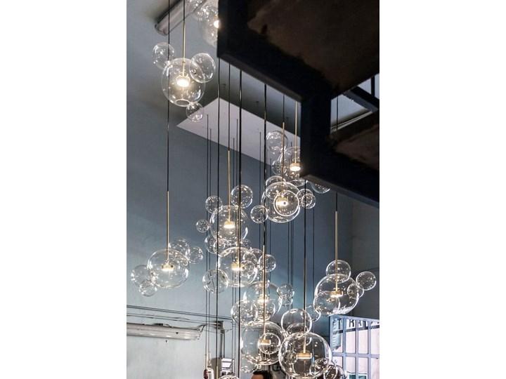 Bubble 4 - duża nowoczesna lampa wisząca - pączkujące szklane kule Kategoria Lampy wiszące Szkło Metal Mosiądz Lampa kula Lampa z kloszem Funkcje Brak dodatkowych funkcji