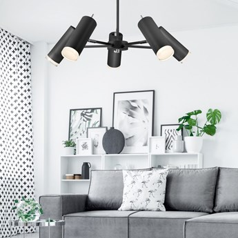 MADISON lampa sufitowa 5-punktowa czarna