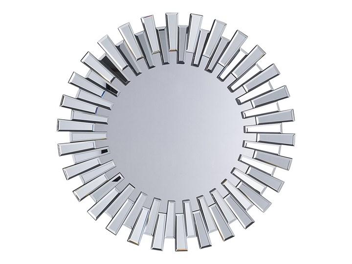 Lustro srebrne okrągłe słońce kształt nowoczesne salon przedpokój Lustro bez ramy Ścienne Kolor Srebrny Styl Nowoczesny