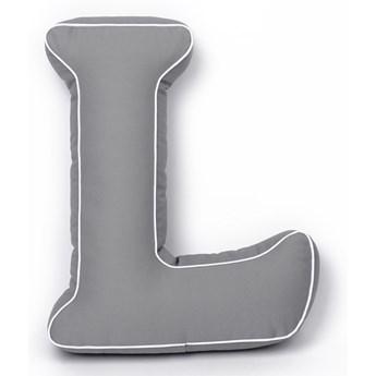Poduszka do pokoju dziecka literka L szara