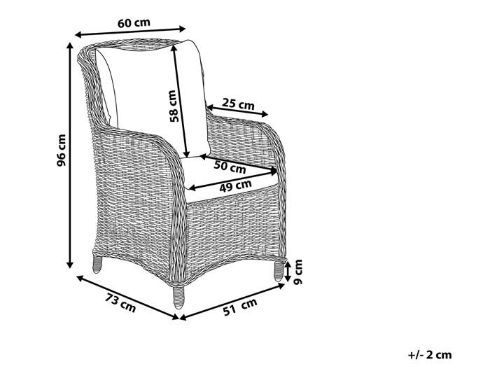 Zestaw 2 foteli ogrodowych rattan szary CASCAIS Aluminium Technorattan Aluminium Technorattan Technorattan Aluminium