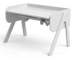 Białe biurko z drewna sosnowego z regulacją wysokości Flexa Woody