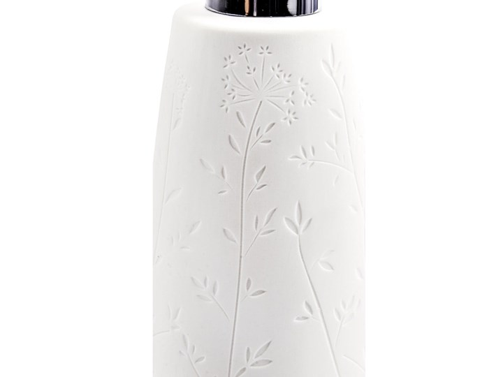 Biały ceramiczny dozownik do mydła Wenko Flora Dozowniki Ceramika Kategoria Mydelniczki i dozowniki