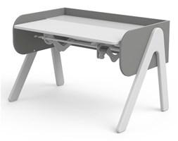 Szaro-białe biurko z drewna sosnowego z regulacją wysokości Flexa Woody