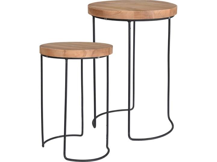 Zestaw stolików pomocniczych w stylu loft Mofe